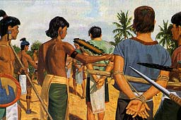Wicked Lamanites kill all believing Nephites