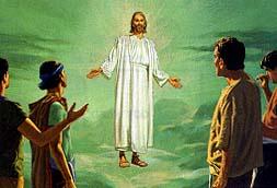 Jesus goes to heaven