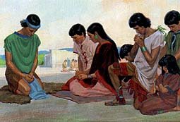 Disciples teach the people