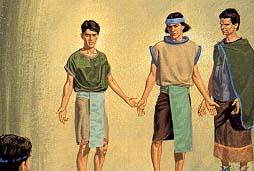 Three disciples taken up to heaven