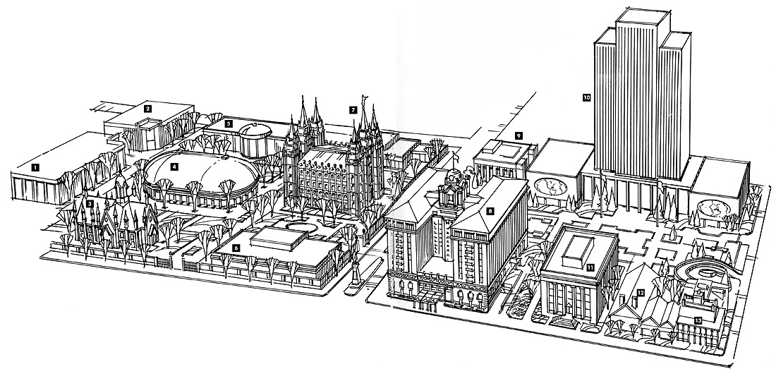Map of Temple Square