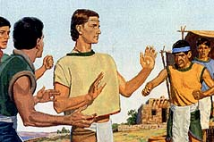 The people didn't believe Nephi