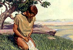 Nephi prayed for a famine