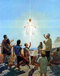 Jesus descends from heaven
