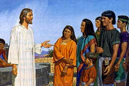 He tells the Nephites to repent