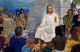 Jesus taught the people to pray