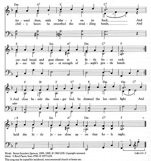 Music, When Joseph Went to Bethlehem