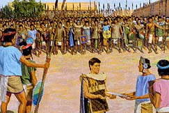 Two thousand young men led by Helaman