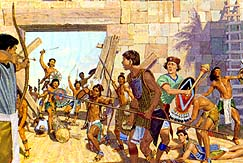 Lamanites attack