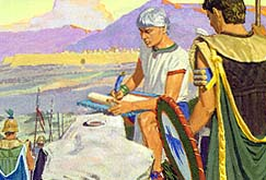 Tells him he had been forced from Zarahemla