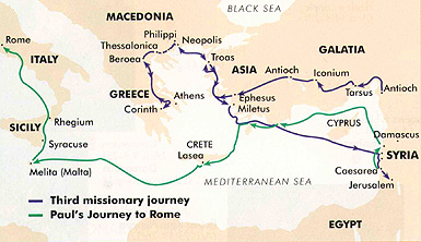 Paul's missionary journey to Rome