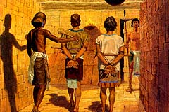 They were put in jail by Lamanites