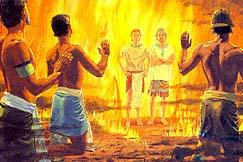 Pillar of fire around all of them