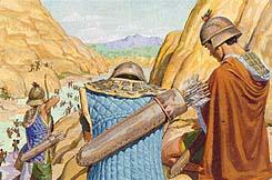 Many Nephites killed