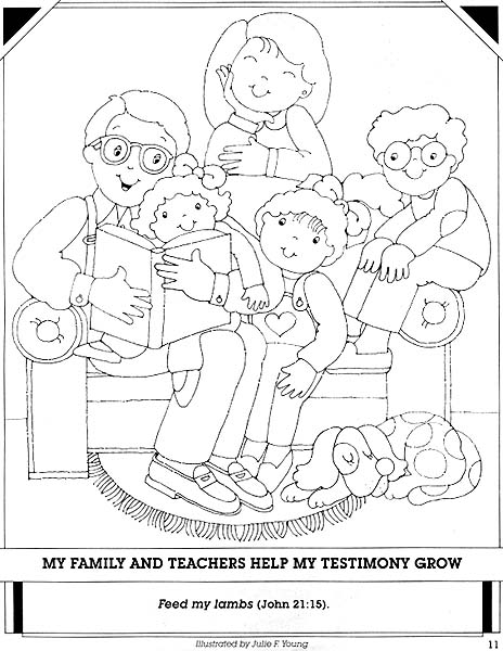 Free coloring pages of extended famly