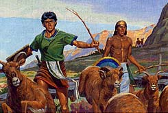 Lamanites scatter the animals