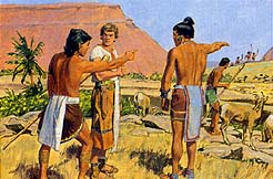 Ammon fought the Lamanite robbers