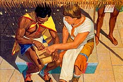 Ammon taught Lamoni about Jesus