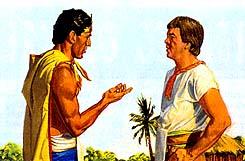 Lamoni quiere Amón para cumplir con su padre