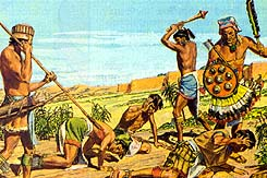 More wicked Lamanites kill the people of Ammon