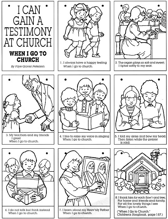 sharing time when i go to church liah source a5mzstaticcom report lds prayer coloring page