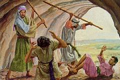 Laman and Lemuel beat Nephi