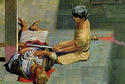 An angel tells Nephi to kill Laban