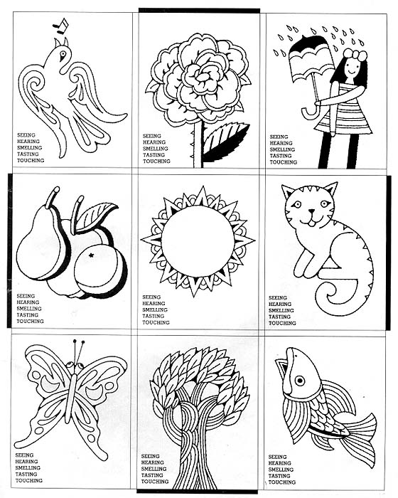 Free Coloring Pages Of The Five Senses 5 Senses Coloring Pages Printable