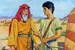 Nephi makes a wooden bow