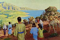 They arrive at the seashore