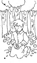 Sharing time divine directions liahona june 1990 liahona for First vision coloring page
