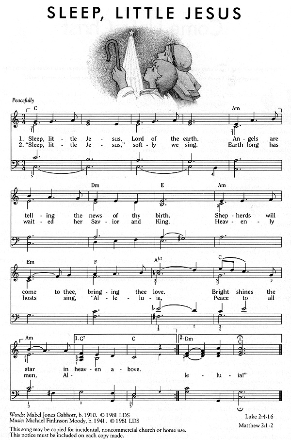 Music, Sleep, Little Jesus