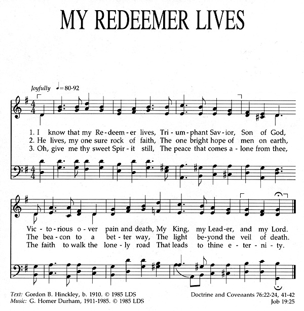 Music, My Redeemer Lives