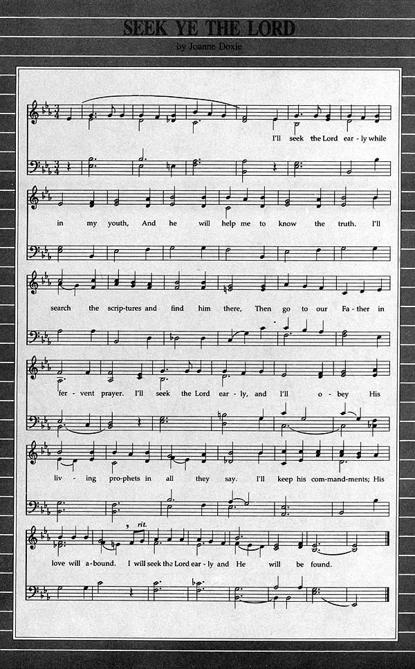 Music, Seek Ye the Lord