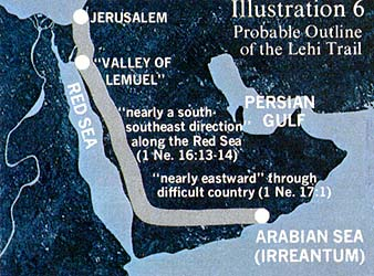 Probable Outline of the Lehi Trail