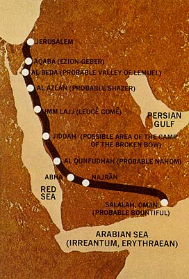 Possible Route of Lehi's Journey in the Wilderness