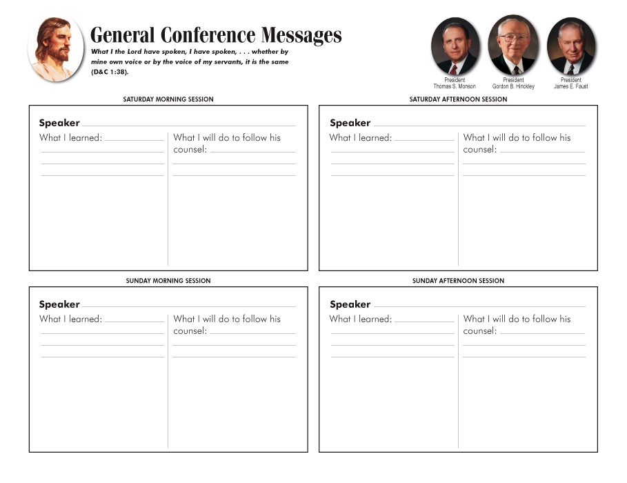 General Conferece Messages Fill-in
