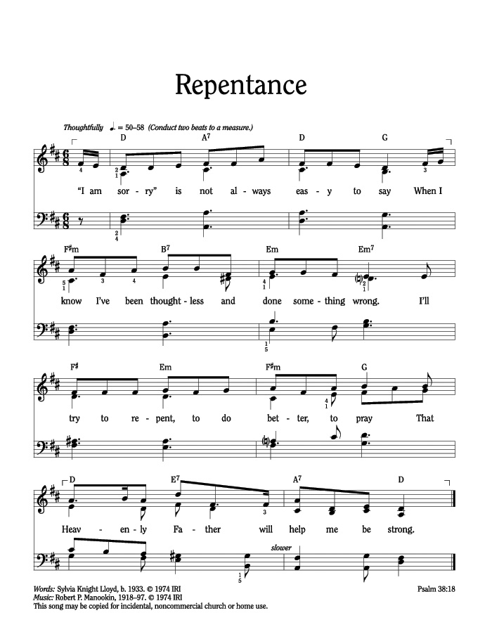 Music, Repentance