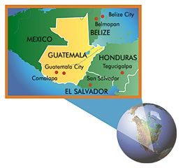 Map of Guatamala