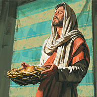 Jesus gives the sacrament