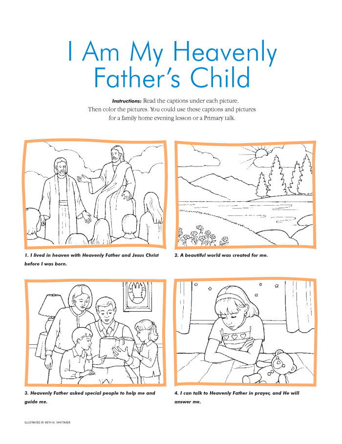 i am my heavenly fathers child - A Child God Coloring Page