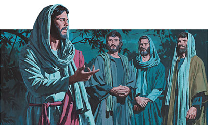Peter, James and John go with Jesus
