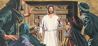 Jesus entered the room