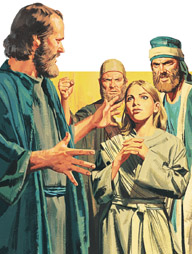 Paul commanded the spirit to leave the girl