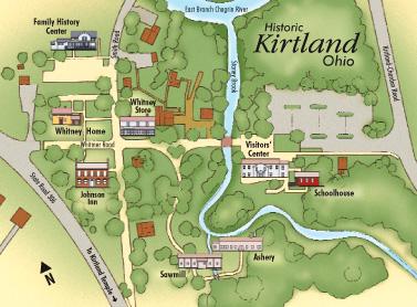 Map of Kirtland