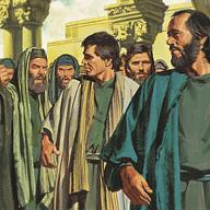 In Jerusalem people beat Paul