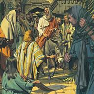 The people proclaimed Jesus as the Savior