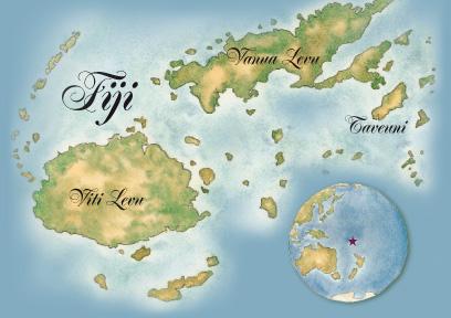 map of Fiji