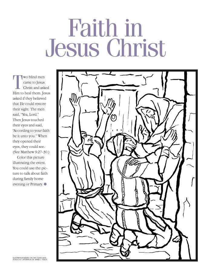 Lesson 7: Having Faith in Jesus Christ — Chicken Scratch N