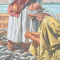 Peter knelt at Jesus' feet